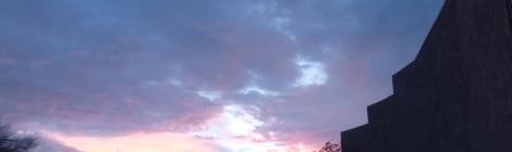 アリゾナの日暮れの様子