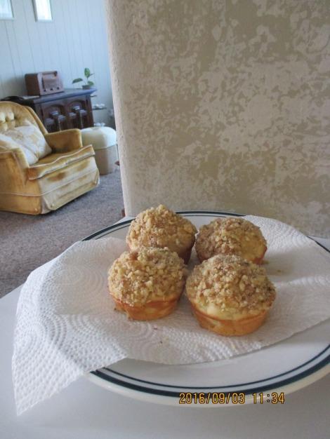 この日は朝から気持ちが良かったので、りんごのマフィンを作ってみました。地元の蜂蜜を使ったクルミのトッピングがふんわりとした甘さを加えとてもおいしくできました(^^)